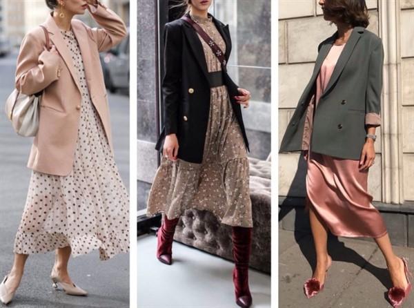 8 свежих идей c чем носить платья миди