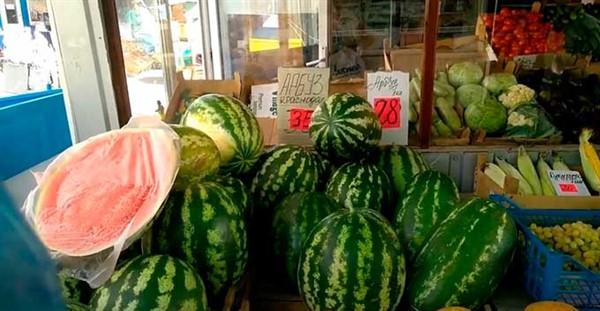 Жительница Горловки рассказала о ценах на арбузы, дыни и овощи