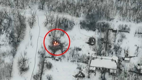 Под Горловкой бойцами Нацгвардии уничтожена российская БМП