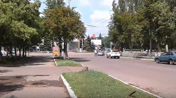 Местные жители показывают на видео, как  днем выглядит Горловка