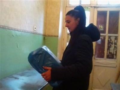 В Никитовском районе Горловки выдают гуманитарную помощью семьям с детьми до трех лет