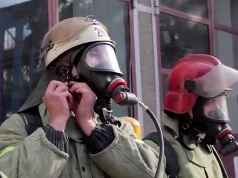 Проект «Дело мастера боится»: боевая тревога, выезд на ЧП и другие эпизоды из жизни горловских пожарных-спасателей