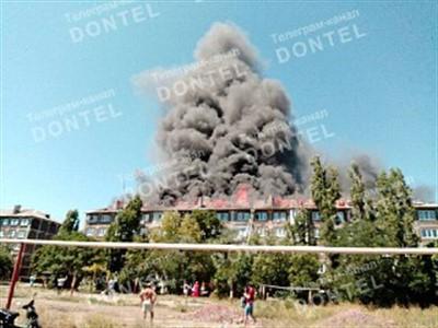 В оккупированном Торезе Донецкой области произошел пожар в многоэтажке (ФОТО)
