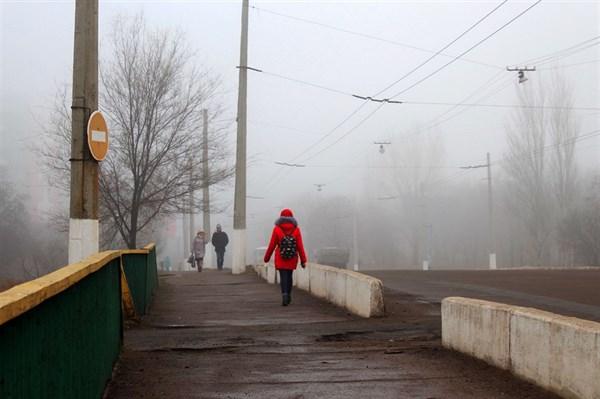 Туманная Горловка: фоторепортаж  с улиц утреннего полусонного города
