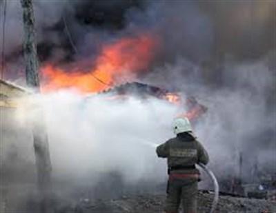 Вчера в Горловке произошло возгорание дома в результате обстрела