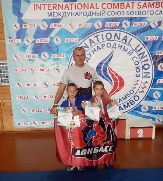 Горловские самбисты привезли из РФ четыре медали