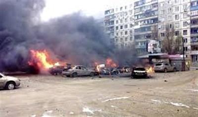 В центре Горловки  сегодня  под обстрел попал жилой квартал