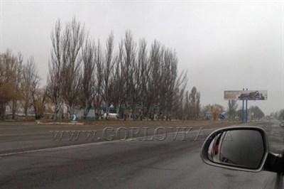 Из-за угрозы обстрелов дорога наГорловку перекрыта