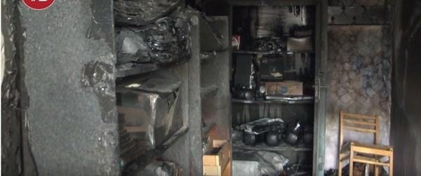 В Горловке горело здание института иностранных языков. Уничтожена библиотека и вся учебная литература