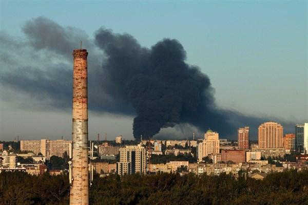 Что известно о возгорании складов с боеприпасами в Куйбышевском районе Донецка