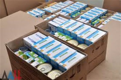 В Горловке выдают гуманитарную помощь, предназначенную для детей до трех лет