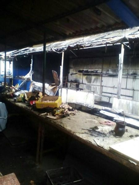 Житель Горловки показал на видео, что осталось от рынка в Никитовке