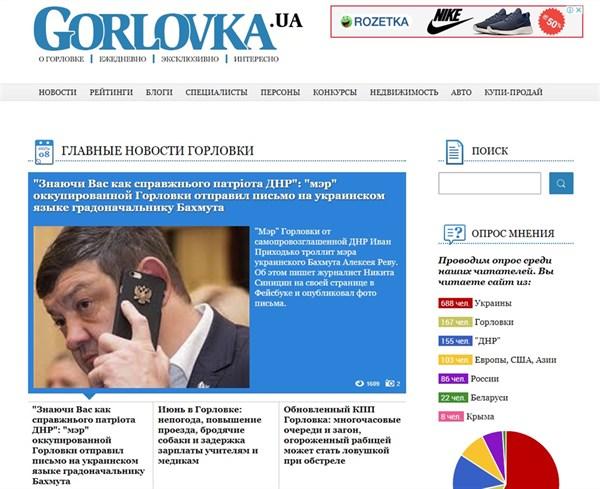 Откуда читают сайт Gorlovka.ua на пятом году оккупации города: опрошено более 1200 читателей