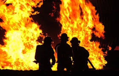 В Горловке горело здание Центрально-Городского райотдела полиции