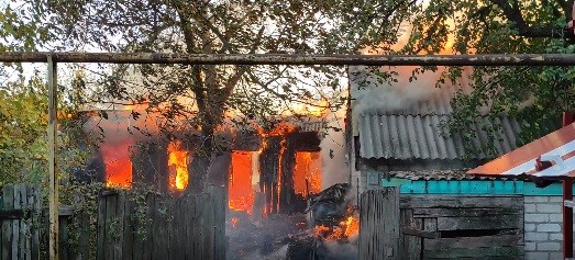 В Горловке горят четыре дома (ВИДЕО)