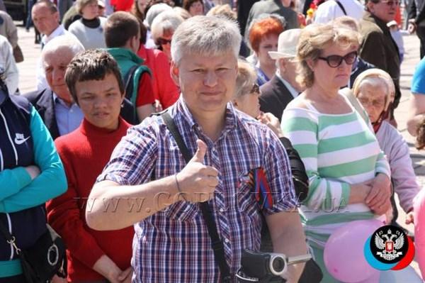 Как в Горловке проходил парад 1 мая