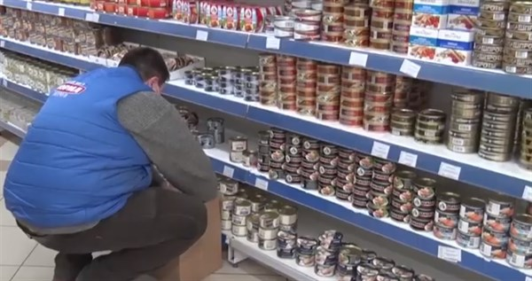 В магазинах Донецка ажиотажа нет, в Горловке исчезла гречка, поднялись цены на сахар и консервы