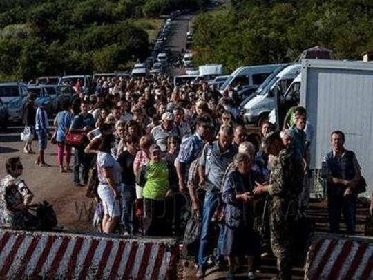 """На блокпостах """"ДНР"""" искусственно создают большие очереди - Погранслужба Украины"""