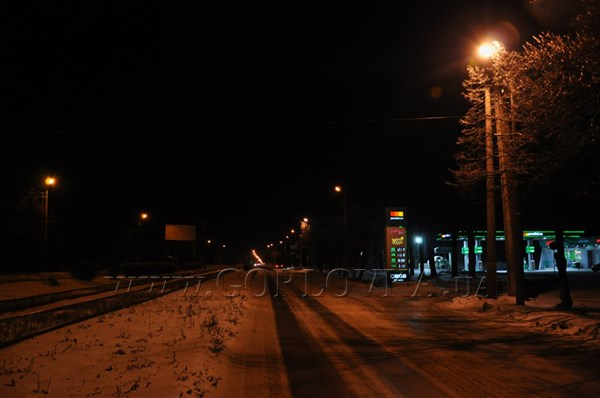 Пустая Горловка в предновогоднюю ночь