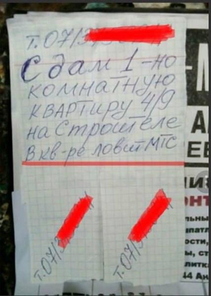 В Горловке сдают в аренду квартиры, в которых ловит МТС. Фотофакт