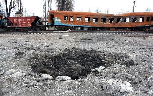 Железнодорожный вокзал Дебальцево превращается в руины (ФОТОФАКТ)