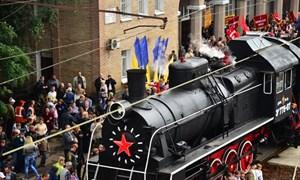Горловка встречает Поезд Победы