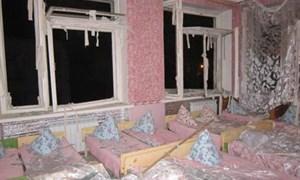 Жилмассив Солнечный после обстрела: детсад «Орленок», дома на улицах Волкова и Богуна