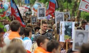 Горловчане в День Победы: эмоции ветеранов, лица детей и фото плакатов