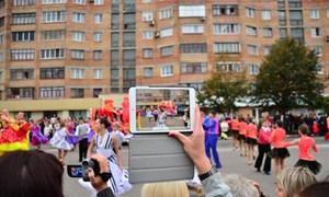 Празднование Дня рождения Горловки на площади перед мэрией