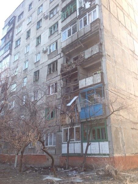 Горловки 16 января каратели киевской хунты нанесли артиллерийский удар по одному из жилых кварталов горловки - ж