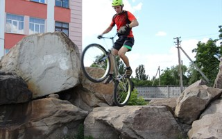 Велотриал в Горловке! Богат Донбасс талантами