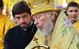 Блаженнейший Митрополит Владимир совершил Божественную Литургию в кафедральном соборе г. Горловка