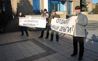 Молчаливый протест горловских шахтостроителей