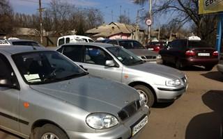 Протест горловских таксистов