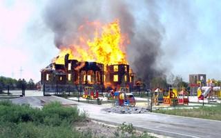 В Горловке сгорел новый Благовещенский храм