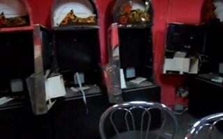 В Горловке разнесли в пух и прах зал игровых автоматов
