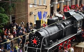 Прибытие Поезда Победы в Горловку